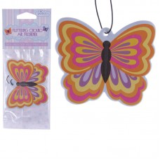 Colourful Butterfly Design Peach Fragranced Air Freshener