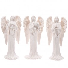 Tall Elegant White Standing Angel Figurine