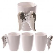 Silver Angel Wings Novelty Ceramic Mug