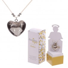 Heart Shaped Guardian Angel Necklace