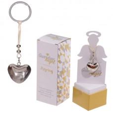 Heart Shaped Guardian Angel Key Ring