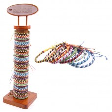 96 Piece Bracelet Set with Stand - Woven Waxed Cotton