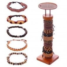 96 Piece Bracelet Set with Stand - Natural Woven
