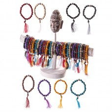 96 Piece Bracelet Set with Stand - Beaded Buddha