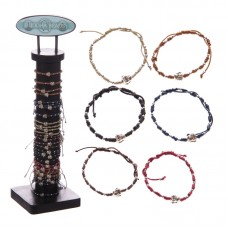 96 Piece Bracelet Set with Stand - Cotton Chinese Buddha