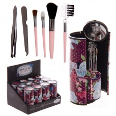 Purple Chintz Butterfly Design Make Up Utensil Kit