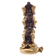 Decorative Brown and Gold Chinese Buddha Totem