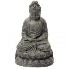 Large Garden Ornament - Green Meditating Buddha 21cm