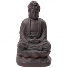 Large Garden Ornament - Bronze Effect Buddha 21cm
