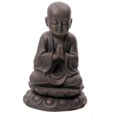 Large Garden Ornament - Bronze Effect Monk 21cm