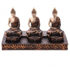 Decorative Thai Buddha Tea Light 3 Candle Holder