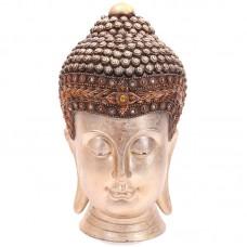 Decorative Thai Buddha Head - Gold Metallic Effect