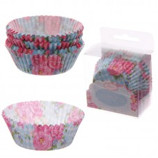 Pack of 72 Paper Cup Cake Cases - Chintz Design
