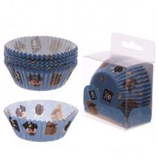 Pack of 72 Paper Cup Cake Cases - Fun Pirate Design
