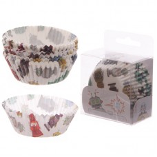 Pack of 72 Paper Cup Cake Cases - Robot Design