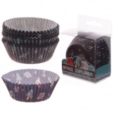 Pack of 72 Paper Cup Cake Cases - Space Design