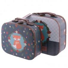 Decorative Set of 2 Cute Fox Design Craft Cases