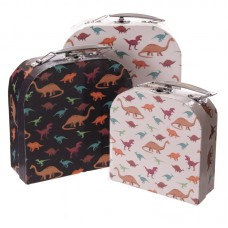 Fun Set of 3 Card Craft and Trinket Boxes - Dinosaur