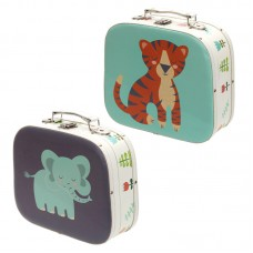 Decorative Set of 2 Zoo Design Craft Cases