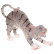 Decorative Cat Stretching Figurine