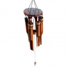 Small Dark Brown Bamboo Wind Chime