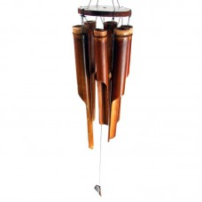 Large Dark Brown Bamboo Wind Chime