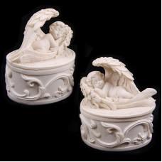 Sleeping Cherub Figurine Trinket Box