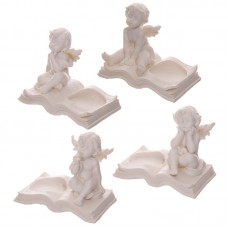 Decorative Cherub Tealight Holder Sitting on Book
