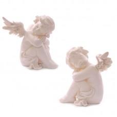 Cherub Resting Figurine Head on Knees