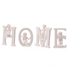 Cute Cherub HOME Letters Ornament