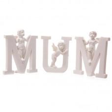 Cute Cherub MUM Letters Ornament