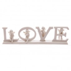 Cute 6.5cm LOVE Letter Cherub Ornament on Base