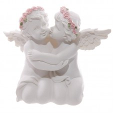 Decorative Rose Cherubs Couple Figurine