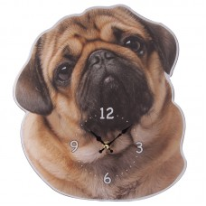 Decorative Pug Shaped Wall Clock