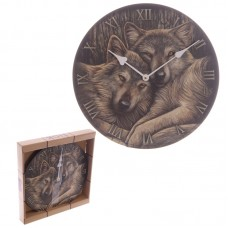 Fantasy Wolf Companions Lisa Parker Design Wall Clock