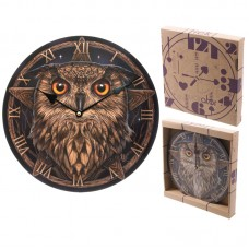 Fantasy Wise Owl Design Decorative Wall Clock