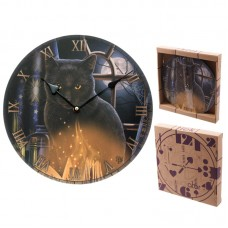Bewitched Fantasy Cat Design Decorative Wall Clock