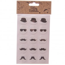 Creative Craft Pack - 60 Moustache Stickers