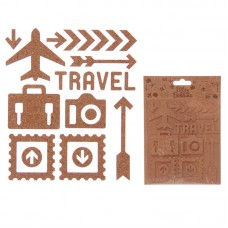 Creative Craft Pack - 15 Cork Travel Stickers