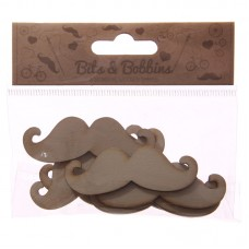 Creative Craft Pack - 8 Wooden Moustache Shapes