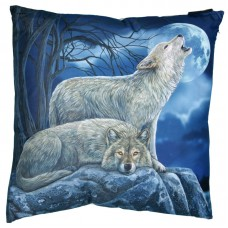 Decorative Howling Wolves Cushion