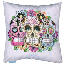 Decorative Day of the Dead Skull Cushion
