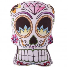 Skull Shaped Day of the Dead Cushion with Insert