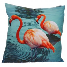 Decorative Flamingos Lake Cushion