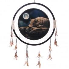 Decorative Quiet Night of the Wolf 60cm Dreamcatcher