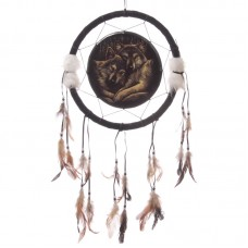 Decorative Wolf Companions 34cm Dreamcatcher
