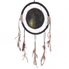 Decorative Midnight Vigil Cat Design 33cm Dreamcatcher