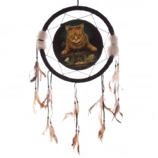 Decorative Fantasy Cat and Tarot Dreamcatcher Medium