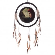 Decorative Fantasy Wolf and Women Dreamcatcher Medium