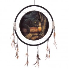 Decorative Magical Witching Hour Cat 60cm Dreamcatcher